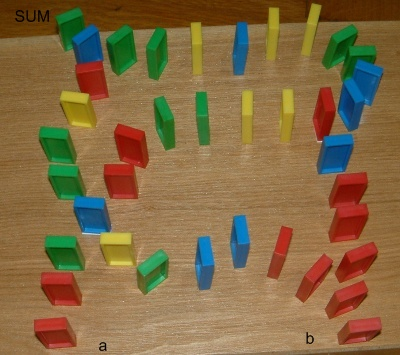 The complete SUM domino circuit.